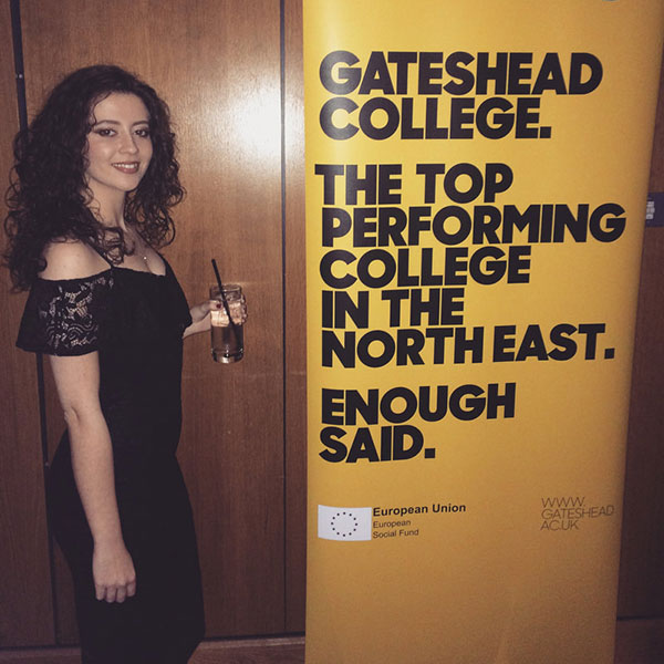 Hannah Rich was commissioned by Gateshead College for the North East Equality Awards 2018.