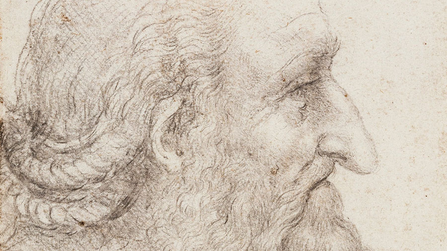 Da Vinci's self-portrait illustrating how he felt in his older years, rather than how he looked.